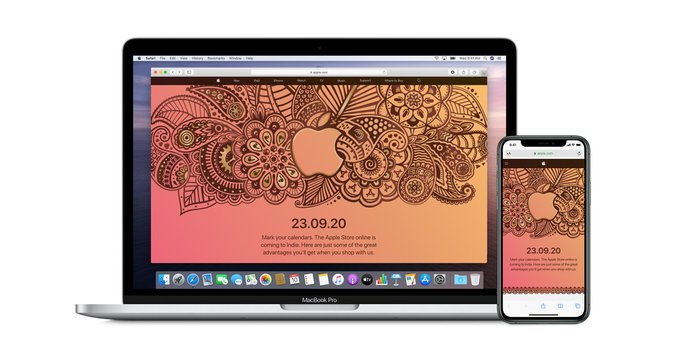 Apple launches his First Online Store In India on 23 Sept