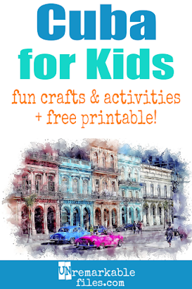 Learning about Cuba is fun and hands-on with these free crafts, ideas, and activities for kids! #Cuba #educational