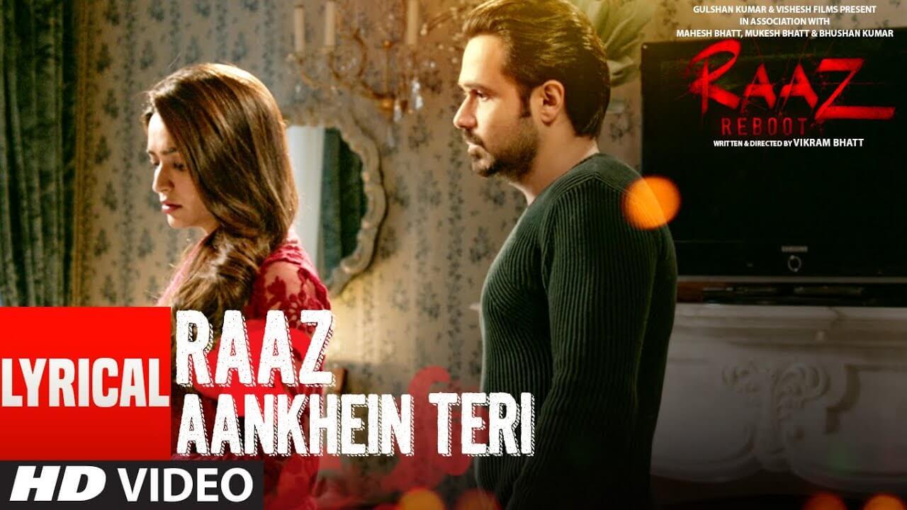 raaz aankhein teri lyrics in hindi