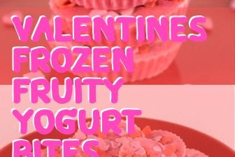 Valentines Frozen Fruity Yogurt Bites
