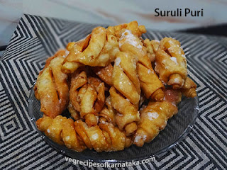 Suruli poori recipe in Kannada
