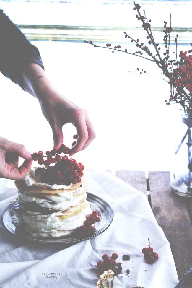 Tarta Pancakes de maíz-kidsandchic