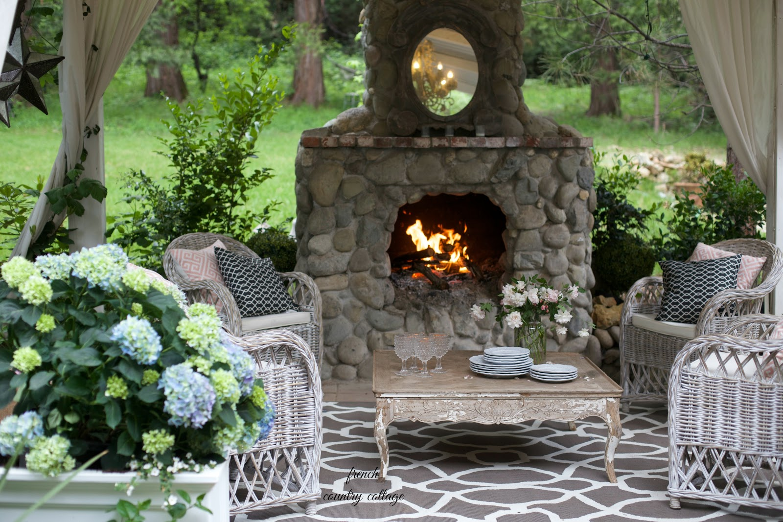 Entertaining a fresh inviting look on the patio french for French country cottages
