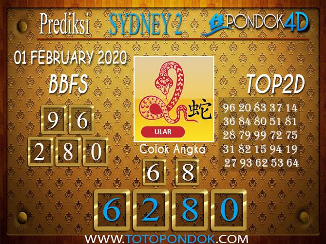 Prediksi Togel SYDNEY 2 PONDOK4D 01 FEBRUARY 2020