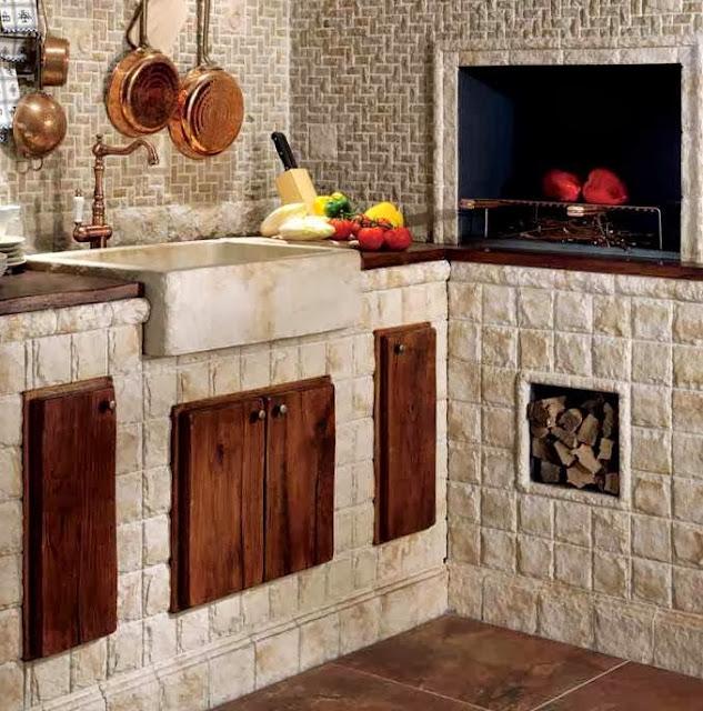 Bakery s home una cocina italiana r stico tradici n y - Muebles de cocina hechos de obra ...