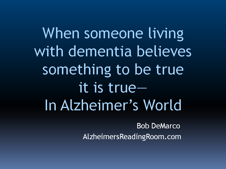 Alzheimer's Care Partner Quote