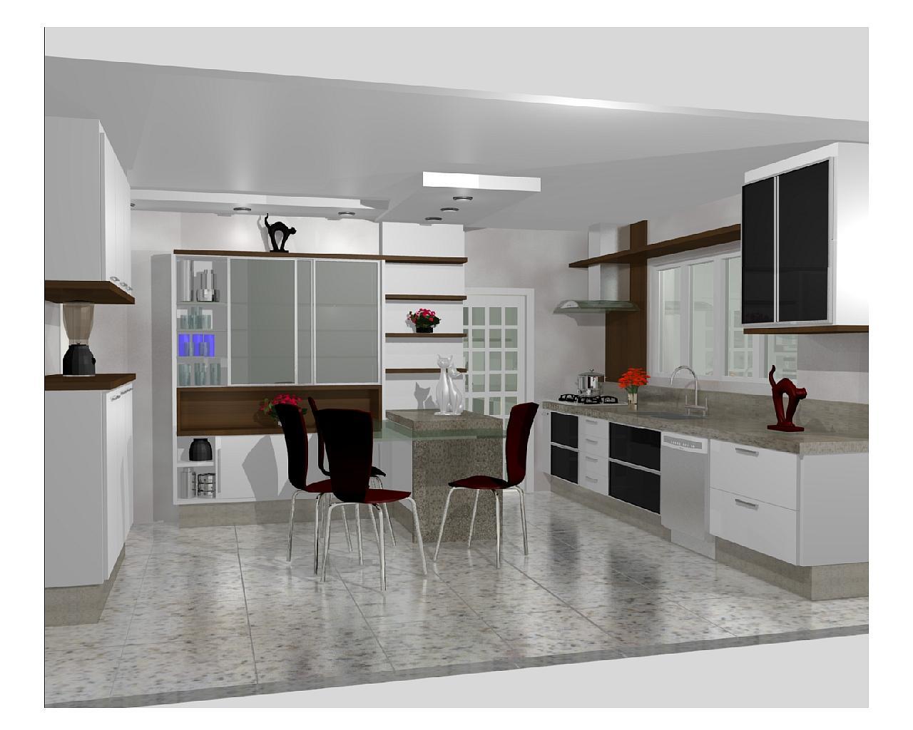 Cozinha Planejadas Pequenas Decorada Americana Modulada