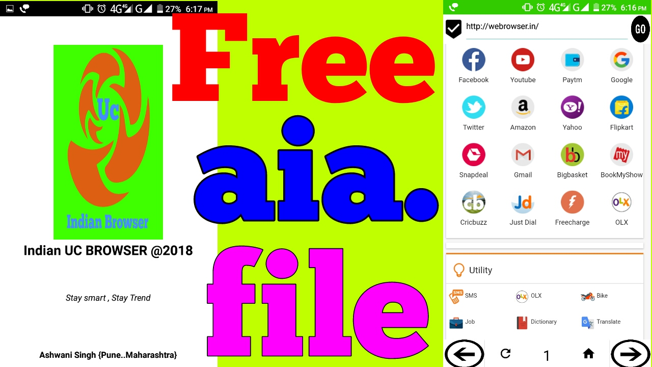 Free Browser AIA Project File ( Download Supported ) |Thunkable