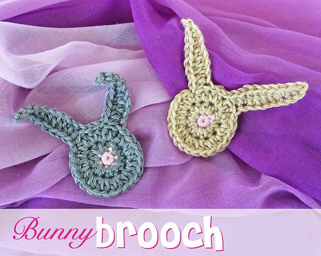 Crochet Rochelle Bunny Brooch Pattern