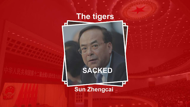 Image Attribute: Sun Zhengcai was one of the more prominent targets of Xi Jinping's crackdown on corruption / Source: BBC