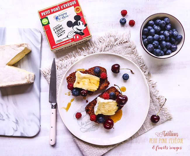 recette fromage fruits rouges
