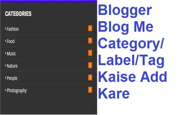 Blogger Blog Me Category Ya Label Kaise Add Kare