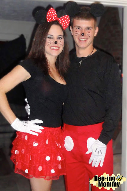 Mickey and Minnie couples costume Mickey and Minnie Mouse costume Mickey Mouse and Minnie  sc 1 st  Bee-ing Mommy & Bee-ing Mommy Blog: Mickey and Minnie Mouse Coupleu0027s Costume