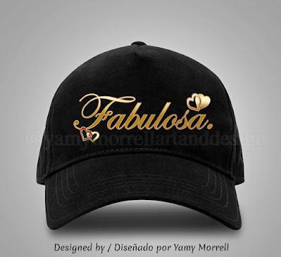 fabulosa-diseño-grafico-gorra-negra-by-yamy-morrell