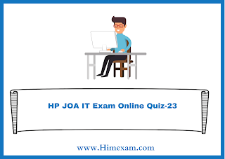 HP JOA IT Exam Online Quiz-23