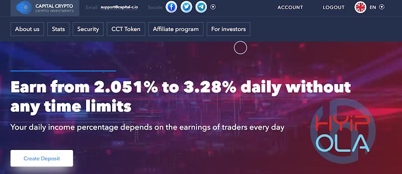 [SCAM] Review Capital-C : Dự án với lãi dao động 2.051 - 3.28% hằng ngày mãi mãi