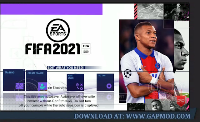 Download PES Mod FIFA 21 PPSSPP Android 700MB Best Graphics HD New Update Kits & Transfer 2020-2021