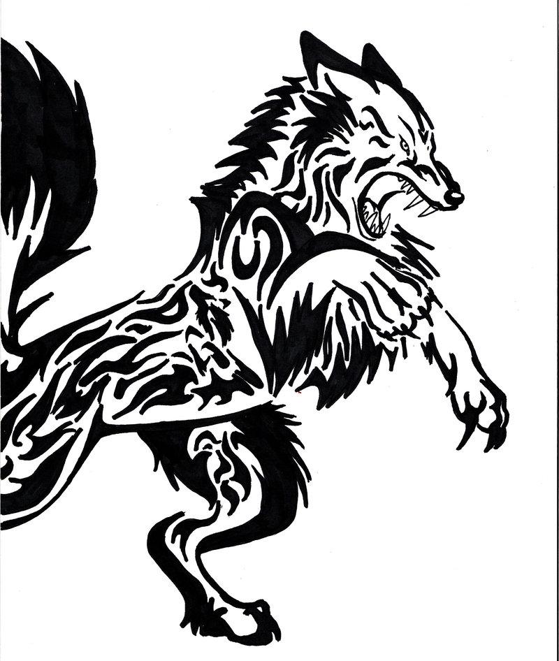 Tribal Tattoos: Vintage Tattoos Galleries: Tribal Wolf Tattoo