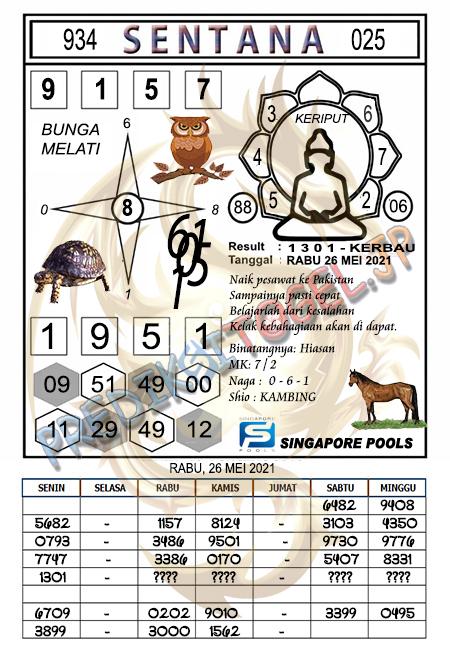 Syair Sentana SGP Rabu 26-05-2021