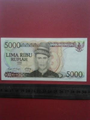 5000 rupiah tahun 1986
