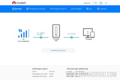 Login Huawei WebUI Orbit Star 2