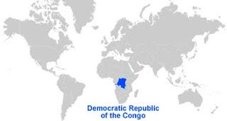 Gambar Peta letak Republik Demokratik Kongo