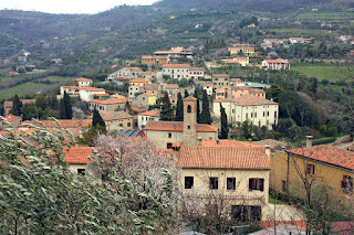 The town of Arquà Petrarca, near Padua, where the poet Petrarch was born, and which took his name