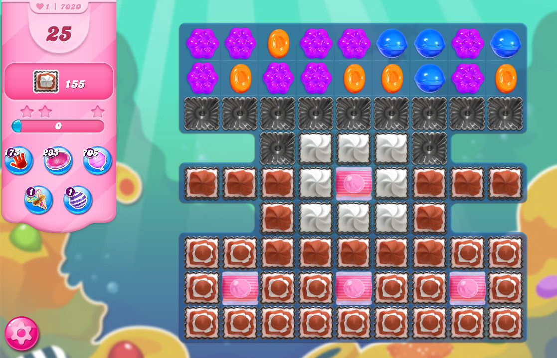 Candy Crush Saga level 7020