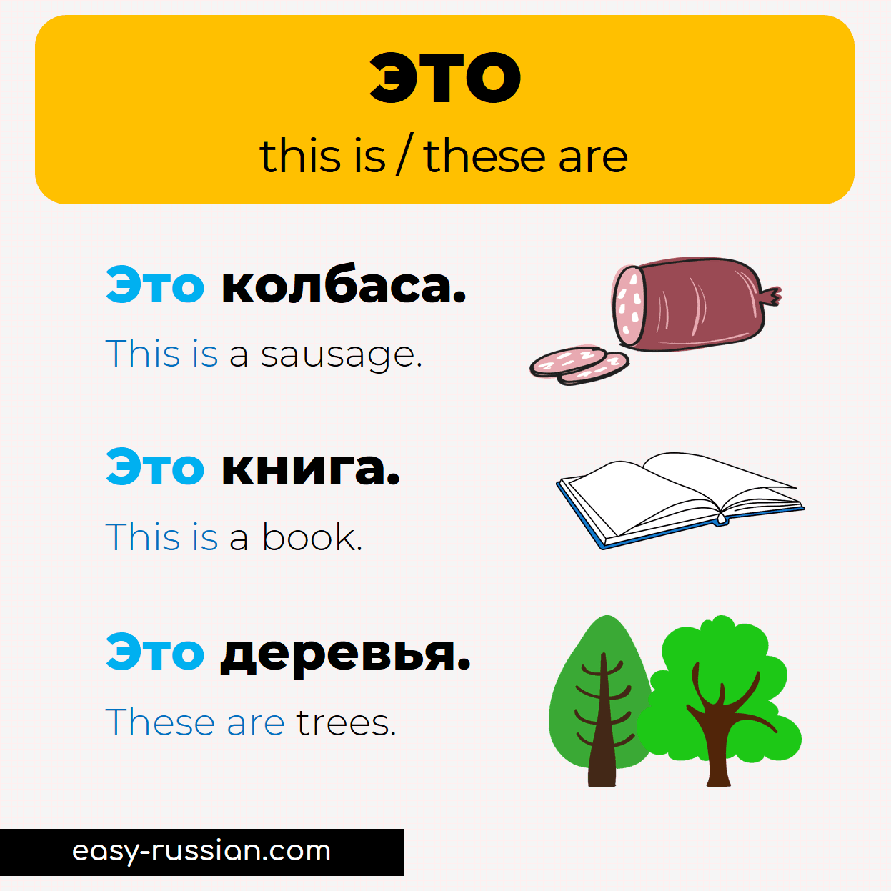 """How to say """"this is"""" in Russian"""