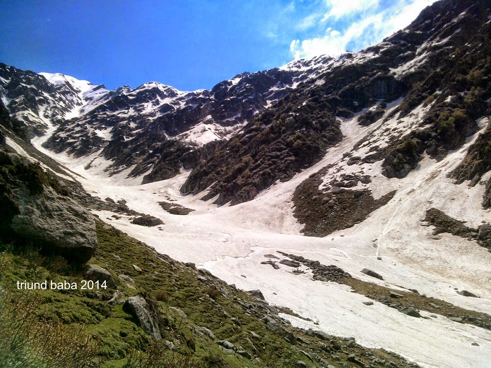 Base of Waru Pass ahead Satchali