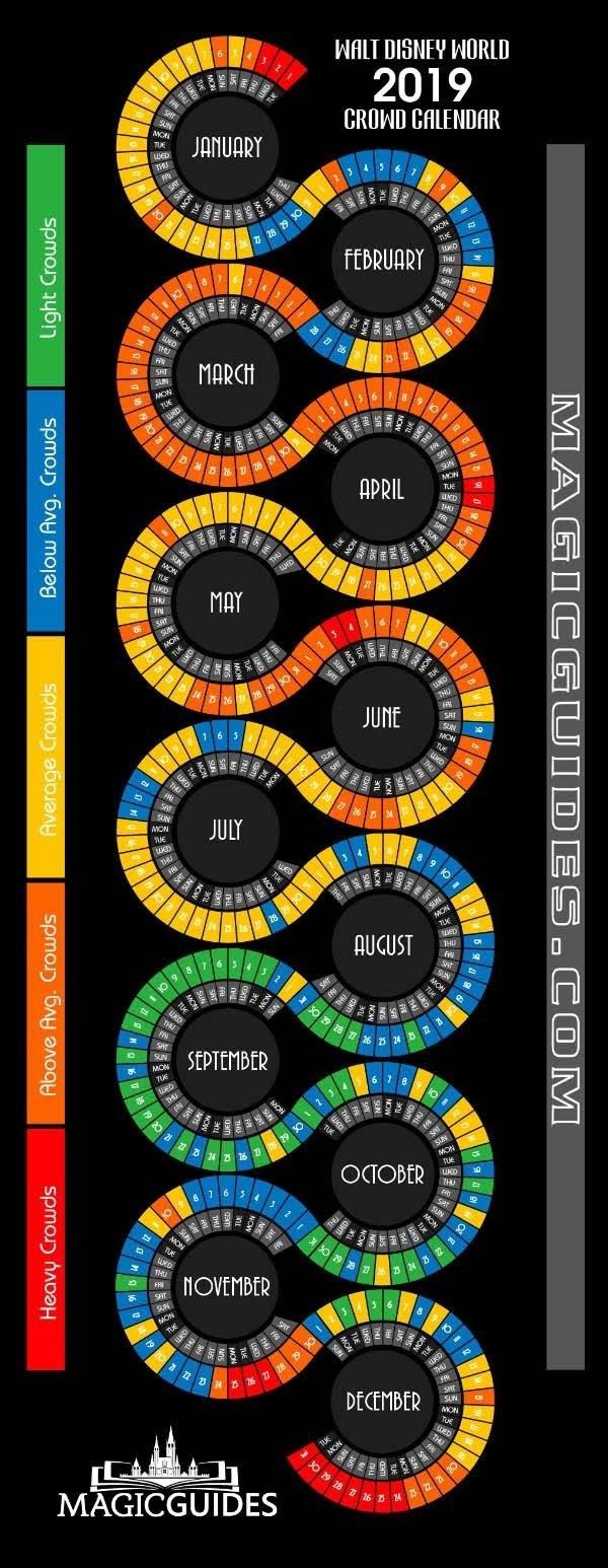 Disney World Crowd Calendar #infographic