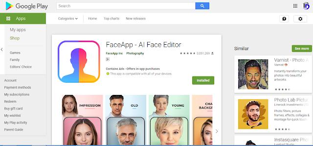 Fungsi Aplkasi FaceApp dan Tempat Downloadnya