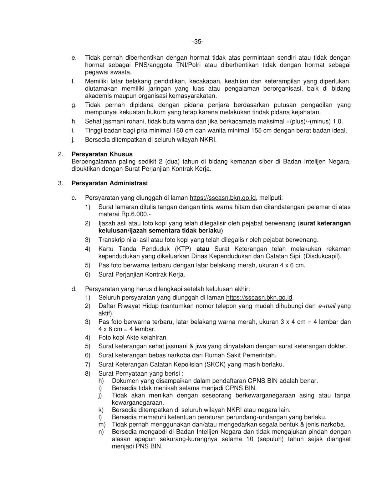 Lowongan Kerja Cpns Badan Intelijen Negara Tahun Anggaran 2019 721 Formasi Rekrutmen Lowongan Kerja Bulan Januari 2021