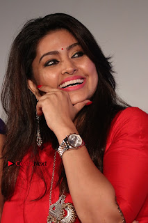 Sneha Latest Stills in Red Dress at Simba Audio Launch