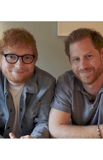 Duke of Sussex and Ed Sheeran Mental health Day 2019 red heads united