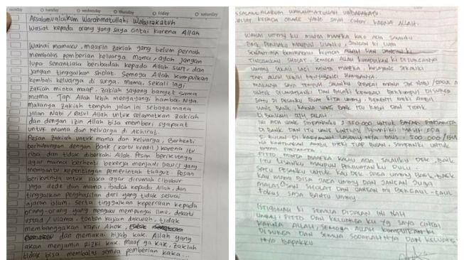 Surat Wasiat Terduga Teroris Makassar dan Mabes Polri Dibuat Orang yang Sama? Ini Analisanya