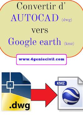 Convertir un fichier autocad dwg vers Google earth en ligne