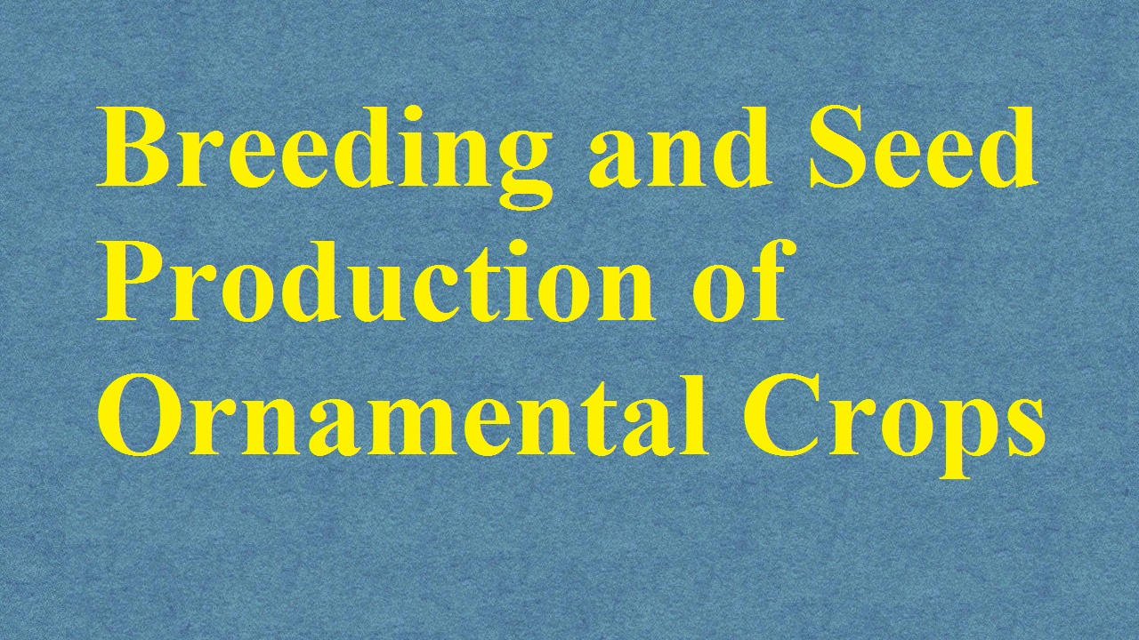 Breeding and Seed Production of Ornamental Crops ICAR Ecourse Free PDF Book Download e krishi shiksha
