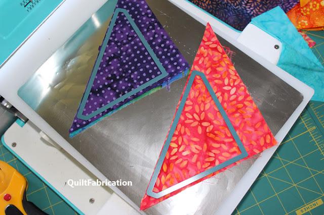 die cutting triangles