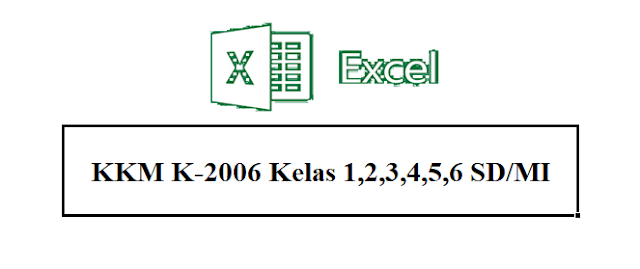 Gratis File Aplikasi KKM Kurikulum 2006 Kelas 1,2,3,4,5,6 SD Terbaru