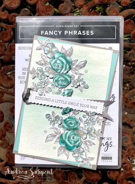 Gray Granite Fancy Phrases Stampin Up cards, Andrea Sargent, Independent Stampin' Up! Demonstrator, Valley Inspirations, Adelaide Foothills, South Australia, Australia