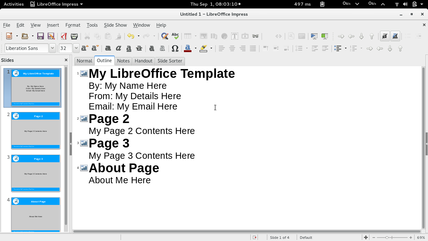 how to create simple libreoffice impress presentation template, Presentation templates