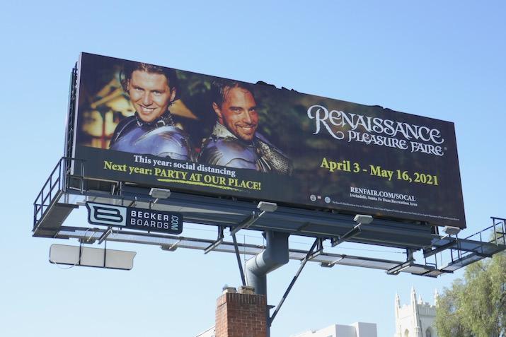 Renaissance Faire 2020 cancelled billboard