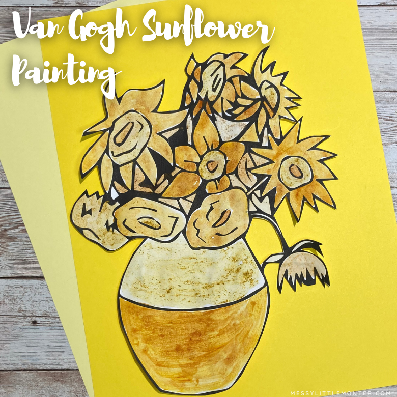 Van Gogh sunflower painting - famous artists for kids