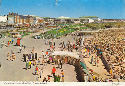Promenade and Gardens, Barry Island. WT.665R. By Valentine. Posted 2 August 1969