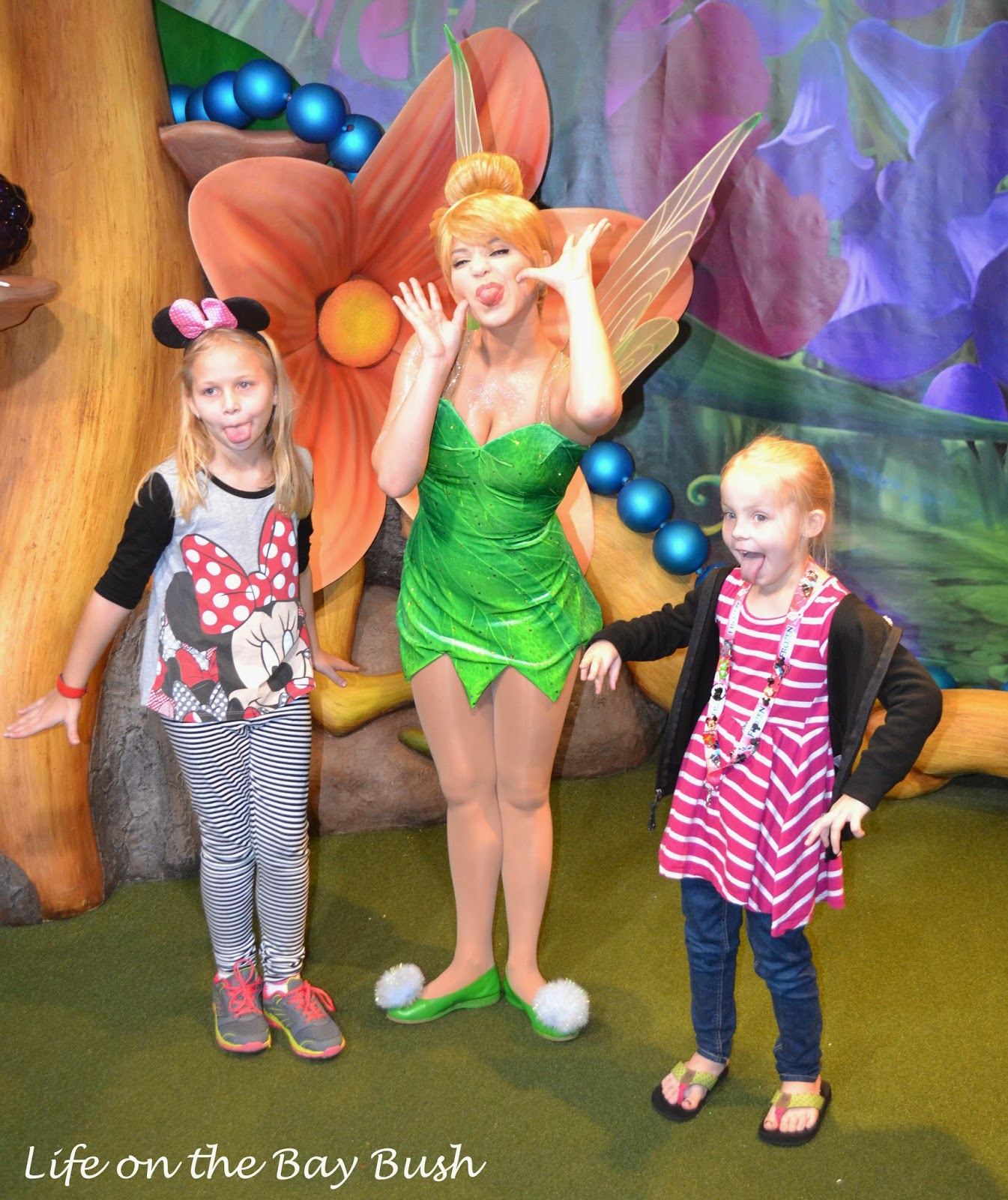 Meeting Tinkerbelle at the Magic Kingdom