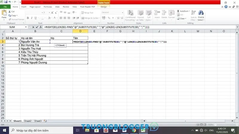 3 cách đơn giản tách họ và tên thành 2 cột nhanh trong Excel