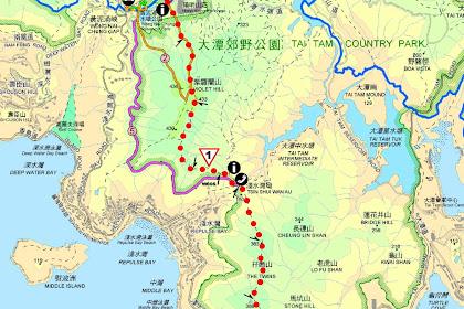 Hong Kong Hiking Map