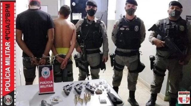 Polícia Militar impede homicídio e apreende armas de fogo e drogas em Desterro