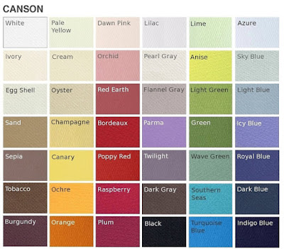 Canson Paper Color Chart